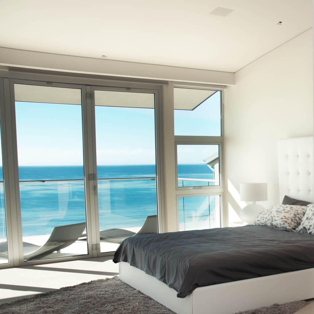 Sonance Architectural Series Medium Speakers and Subwoofers, In-ceiling installation in bedroom, in the Miami / Fort Lauderdale area. Available at dmg Martinez Group.
