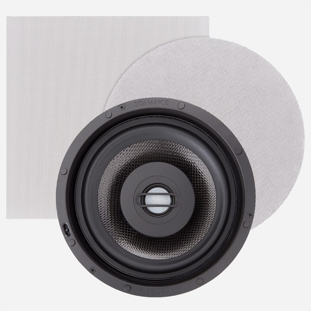 Sonance AS68RS Architectural Series Medium Speaker with Round & Square Steel Grilles, in the Miami / Fort Lauderdale area. Available at dmg Martinez Group.