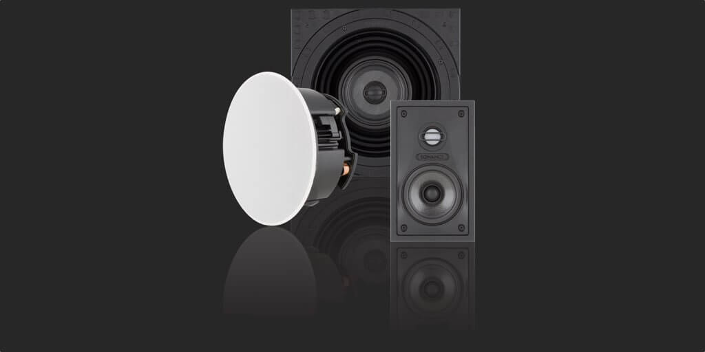 Sales and installation of Sonance Visual Performance Small Round & Square Speakers, in the Miami / Fort Lauderdale area. Available at dmg Martinez Group.