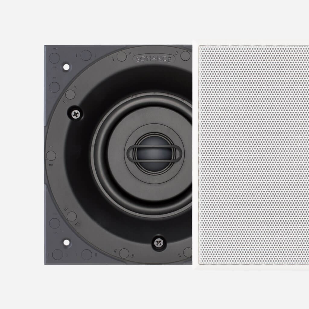 Sonance Visual Performance Small Square Speaker with Perforated Steel Grille, in the Miami / Fort Lauderdale area. Available at dmg Martinez Group.