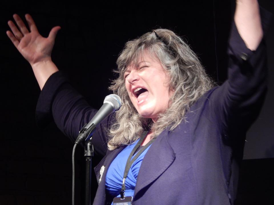 Jenni Lou Russi in the final showcase at the 2018 Cleveland Comedy Festival