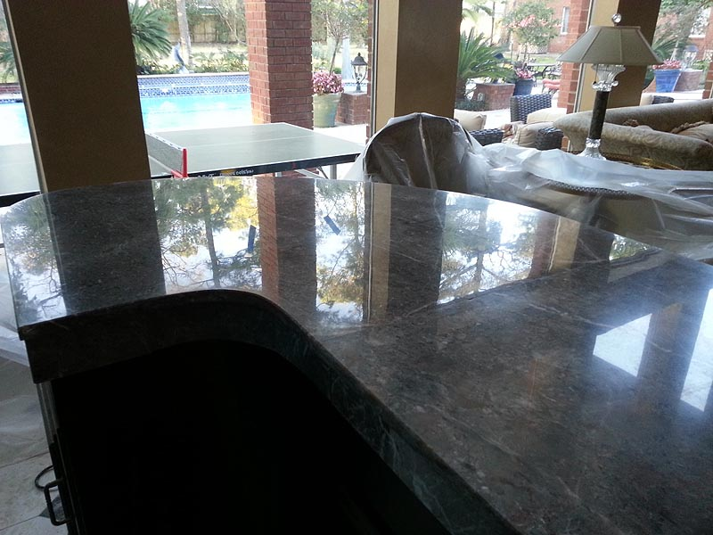 Giving Natural Stone Counters A Matte Finish in Houston