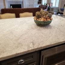 honed marble counter