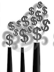 coal stacks of money