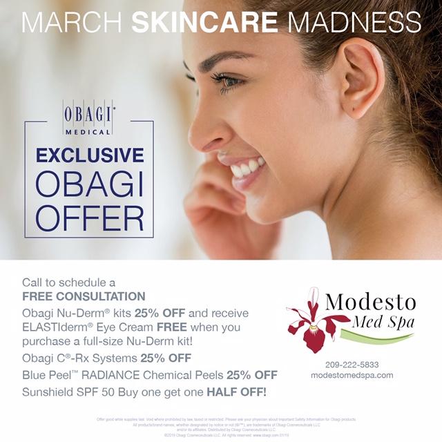 Modesto Med Spa Obagi Special, Skin Care,