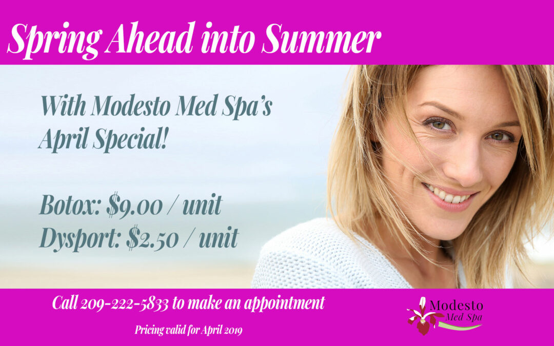 April Special – Spring Ahead into Summer