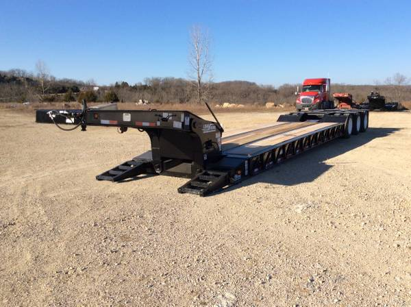 2001 Load King 55 ton lowboy tri-axle semi trailer (Branson MO) $36500
