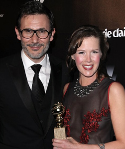 Image of Adria Tennor with The Artist Director Michel Hazanavicius