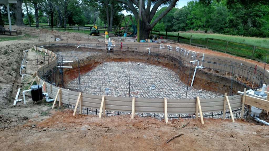 new pool construction with steel plumbing and electrical completed (3)