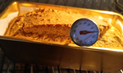 High Protein Bread Mix - gluten-free and vegan baking thermometer