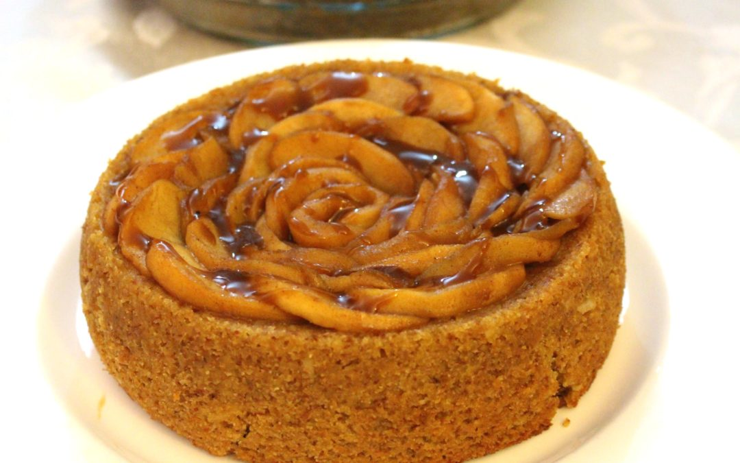 Lemon Apple Cake with Spiced Apples and Caramel Sauce — Gluten Free, Dairy Free, Egg Free