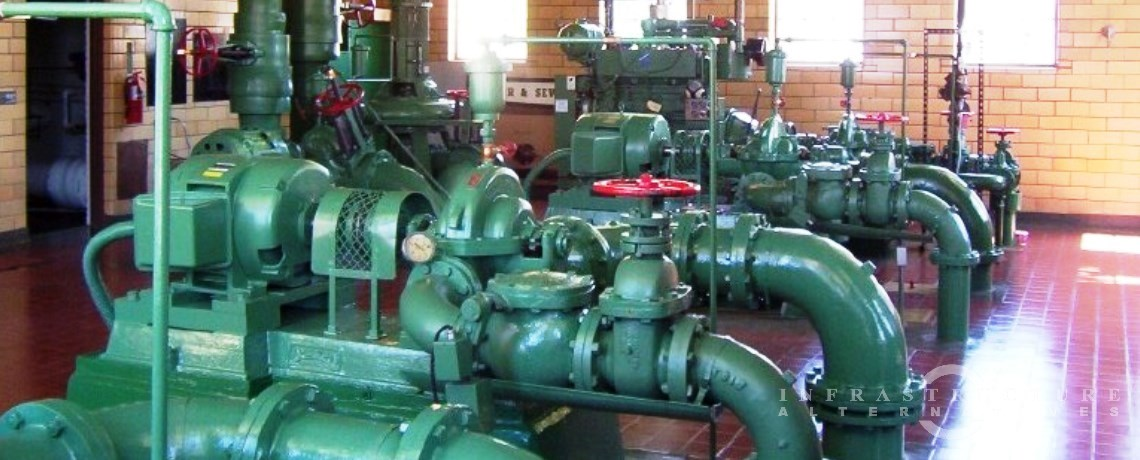 drinking water treatment facility pump gallery