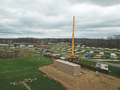 Aerial view of the package plant installation