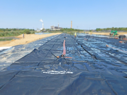 Deployed geotextile tubes
