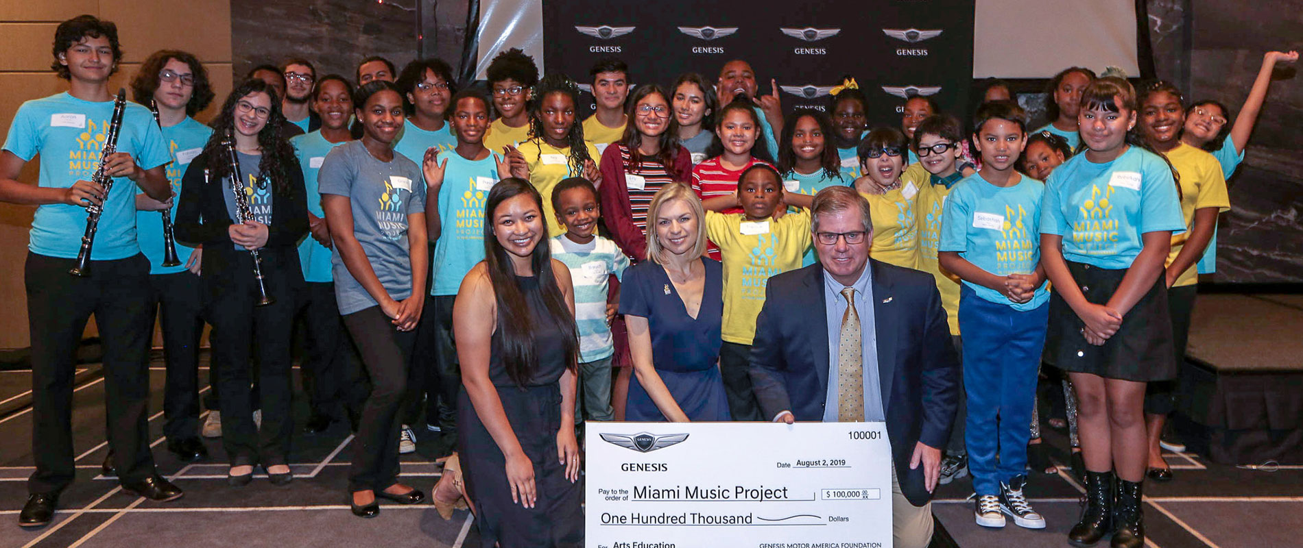 Genesis Motor America Announces A $100,000 Grant To The Miami Music Project In Miami To Support Arts Education