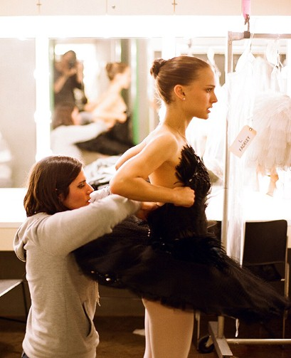 Actress Natalie Portman during a costume fitting for Black Swan. Photo by Autumn de Wilde.