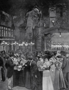 The Moulin Rouge's extravagant performances brought people together from all walks of life. Via Pinterest.