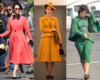 The bold colors and beautiful tailoring in Ratched ensures the viewer's eye is always drawn to the main character. Via Reddit.