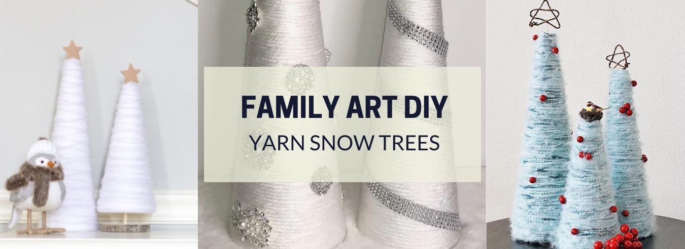 Family Art DIY - Yarn Snow Trees