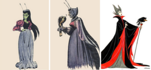 Marc Davis went through several iterations of Maleficent before arriving at her iconic final design. Via Disney.