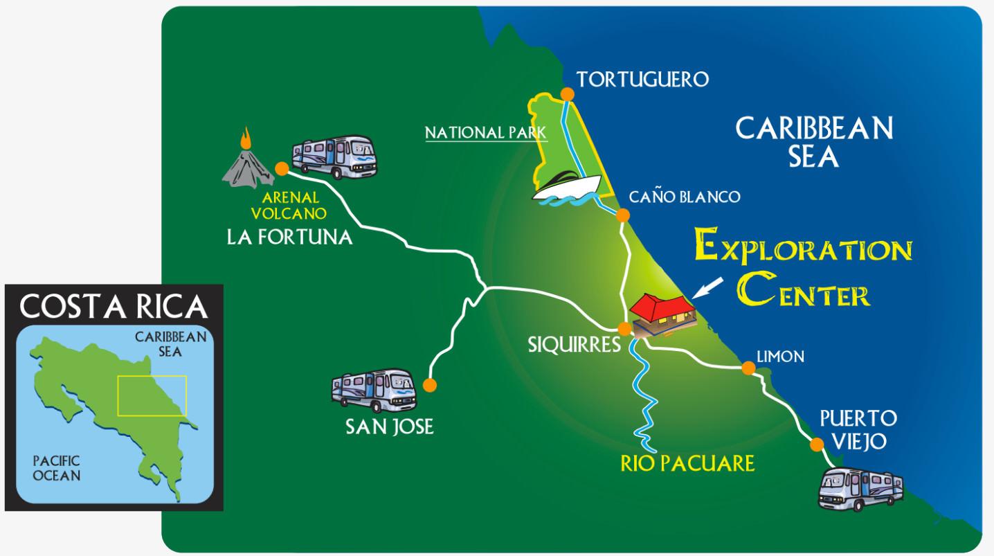 Exploradores Outdoors map