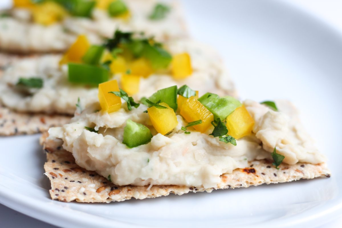 White Bean Dip, gluten free, vegan, plant based, healthy