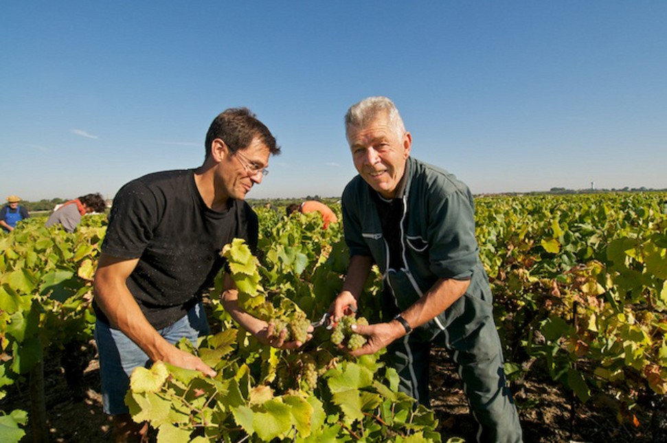 Claude and Sebastien Branger of Domaine Claude Branger