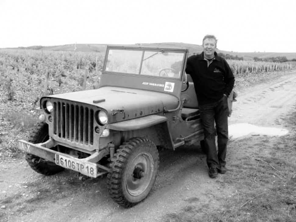 Thierry Merlin with his WWII Jeep