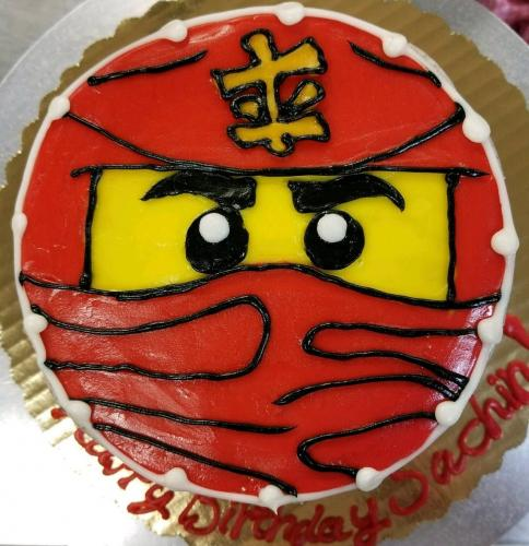 71 Ninjago Face Whole Cake