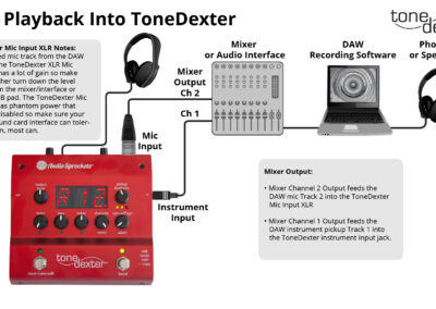 DAW Playback to ToneDexter for Custom WaveMaps