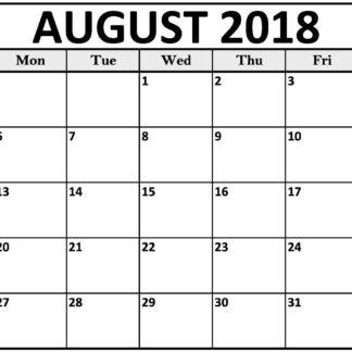 August 2018 Designs