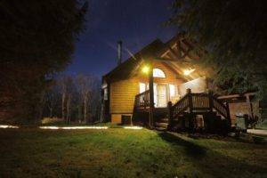 New River Gorge Cabins night view