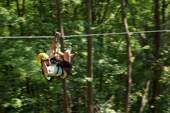 New River Gorge Cabins ziplining