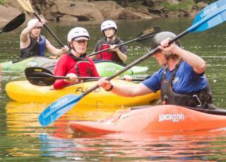 New River Gorge Cabins kayaking
