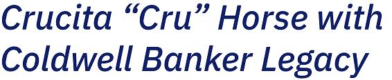 Crucita Cru Horse With coldwell banker Legacy