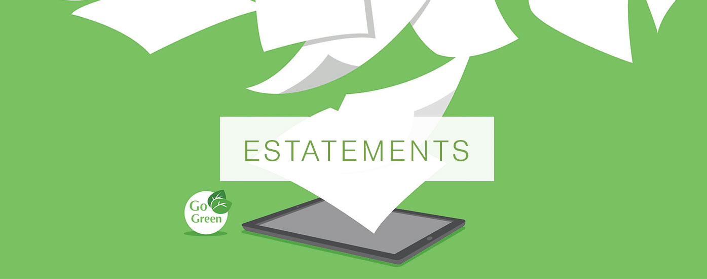 """paper flying off of tablet with a header that reads """"ESTATEMENTS"""""""