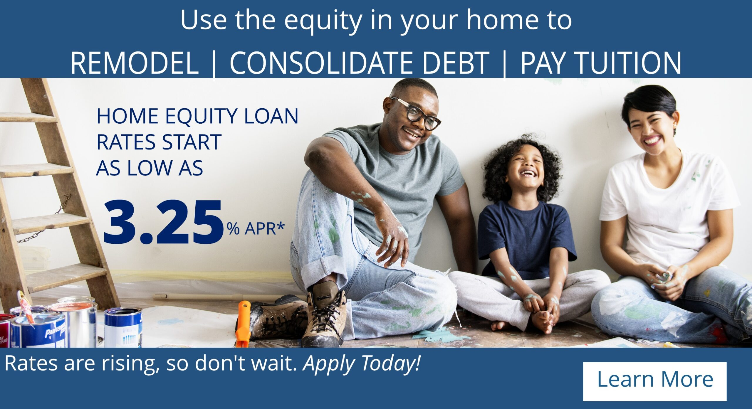 Home equity loan special 3.25%