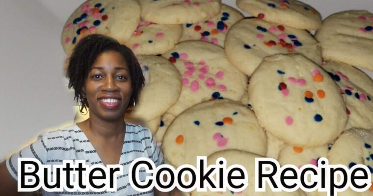 Orange Butter Cookie Recipe