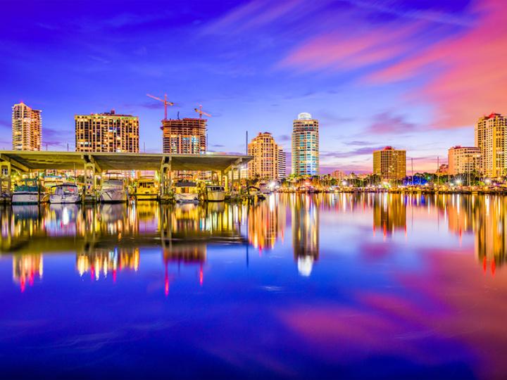St. Petersburg, Florida, USA downtown city skyline