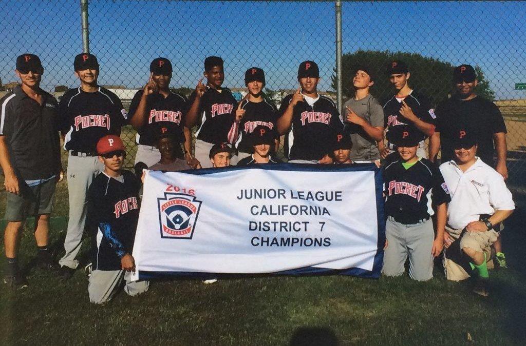 Congratulations Pocket Little League Juniors, California District 7 Champions!