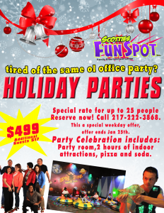 holiday party at Scotties