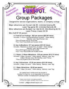 2019 Scoties Group pricing