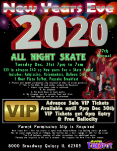 New Years Eve All Night Skate