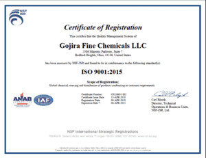 GOJIRAFC ISO CERTIFICATION
