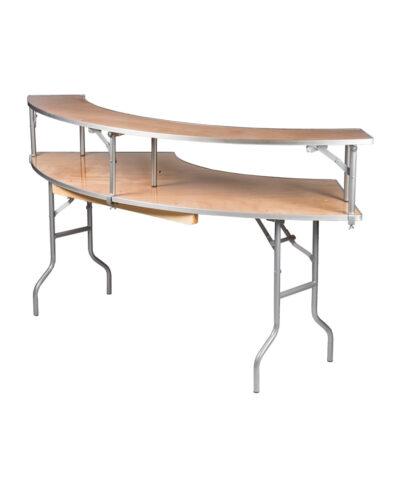 7' Serpentine Bar Top Tables