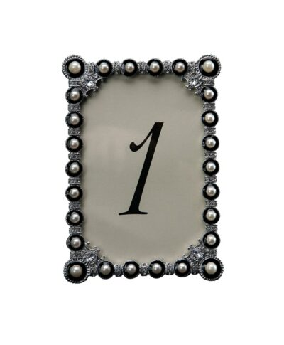 Beaded Charcoal Table Number