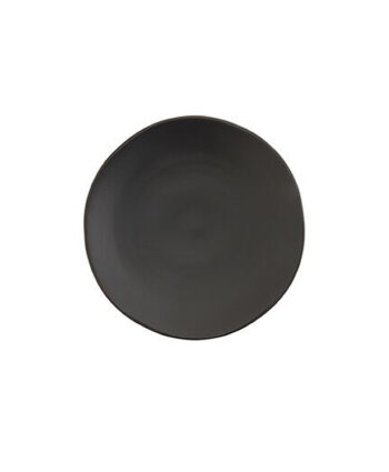 Black Matte China Salad Plate