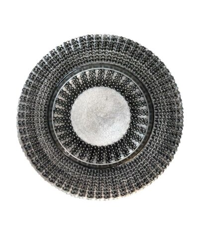 Black Deco Glass Charger