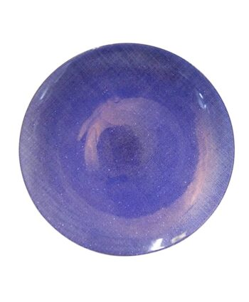 Blue Glitz Glass Charger