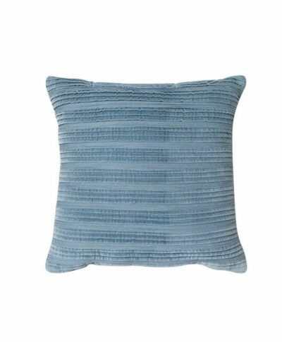 Blue Pleated Textured Pillow